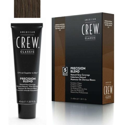 American Crew Classic Precision Blend 4-5 castano medio 3x40ml - colorazione per uomo