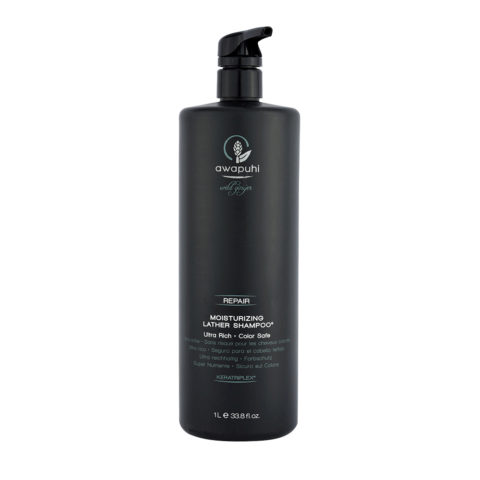 Paul Mitchell Awapuhi wild ginger Moisturizing lather shampoo 1000ml - shampoo riparatore alla cheratina