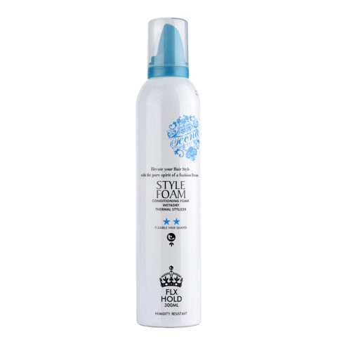 Tecna LMZ Stylish Style foam Blue conditioning foam 300ml mousse che dona corpo, volume e fissaggio