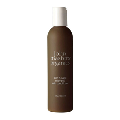John Masters Organics Haircare Zinc & Sage Shampoo with Conditioner 236ml - shampoo e balsamo