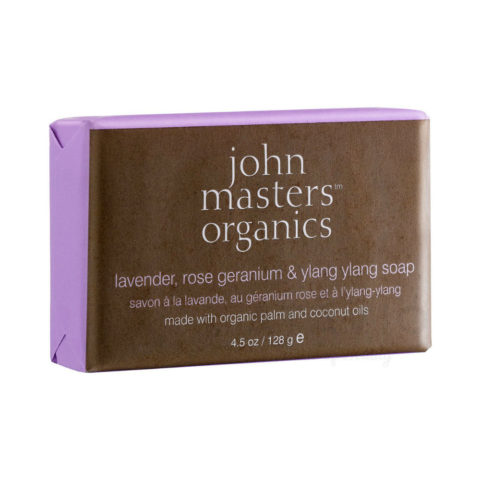John Masters Organics Bodycare Lavender, Rose Geranium & Ylang Ylang Soap 128 gr