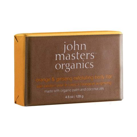 John Masters Organics Orange & Ginseng Exfoliating Body Bar 128gr - sapone corpo esfoliante
