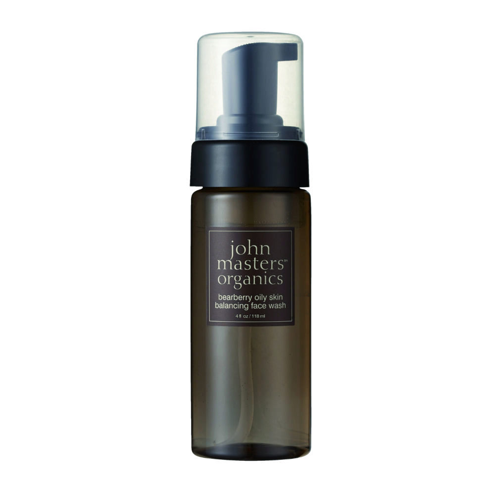 John Masters Organics Bearberry Oily Skin Balancing Face Wash 118ml - detergente viso riequilibrante