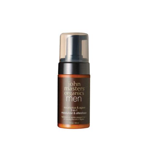 John Masters Organics Men Skincare Eucaliptus&Agave 2-in1 Moisturizer & Aftershave 89 ml
