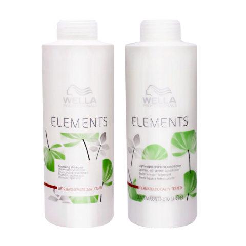 Wella Professionals Elements shampoo 1000ml conditioner 1000ml