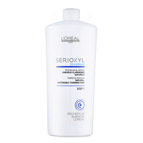 L'Oreal Serioxyl Clarifying shampoo capelli naturali 1000ml