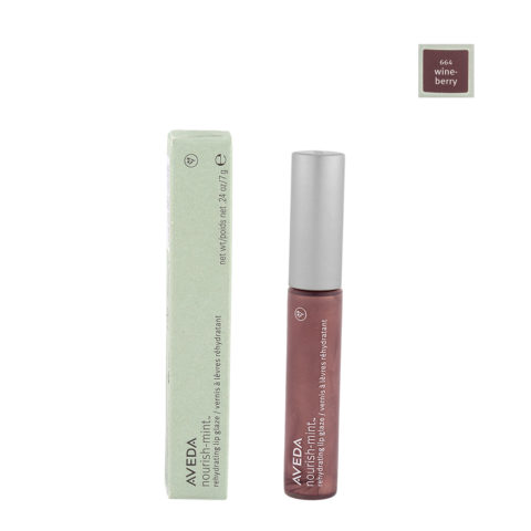 Aveda Nourish Mint Lip Glaze 664 Wineberry 7gr - Lucidalabbra