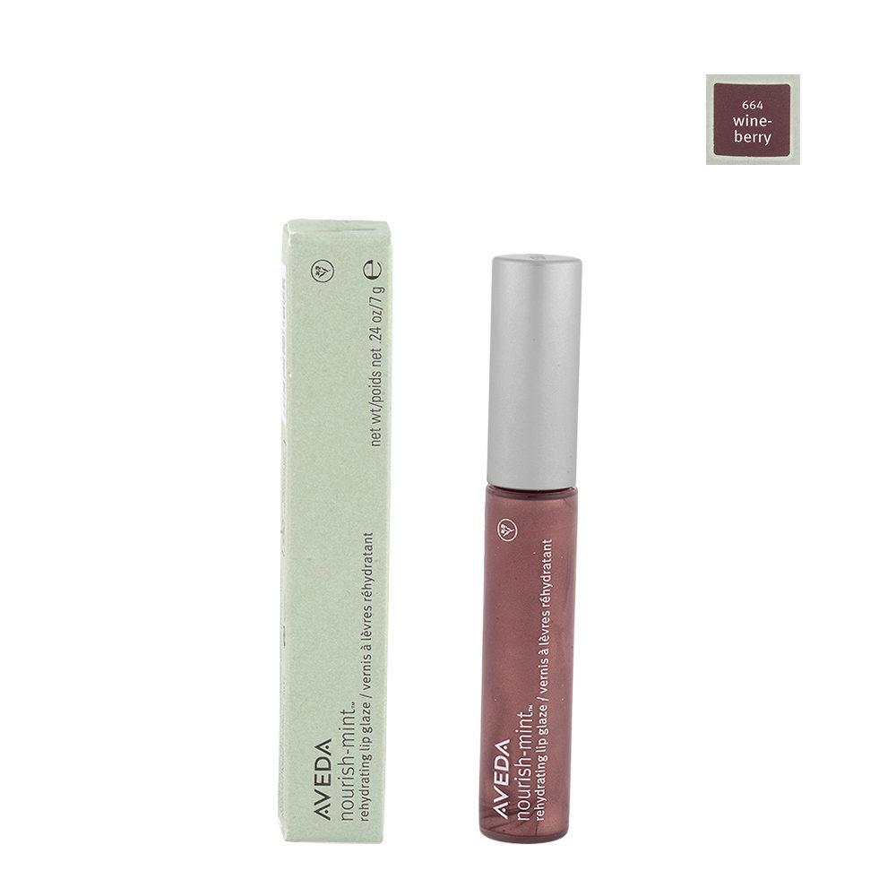 Aveda Nourish Mint Lip Glaze 664 Wineberry 7gr - Lucidalabbra