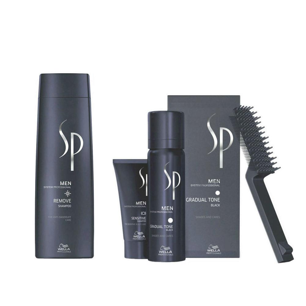 Wella SP Men Kit Remove Shampoo 250ml   Gradual Tone Nero 60ml