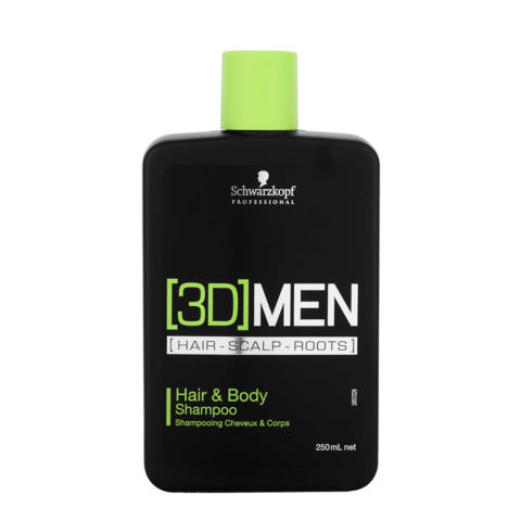Schwarzkopf [3D]men Care Hair&Body Shampoo 250ml - shampoo e bagnoschiuma