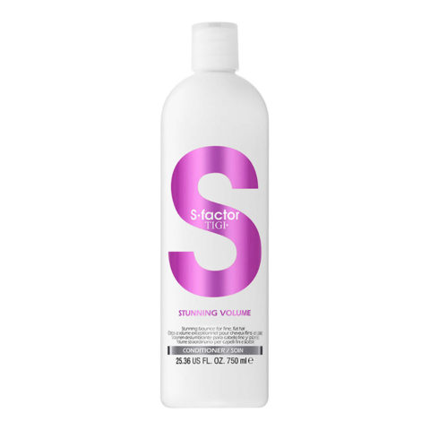 Tigi S-Factor Stunning Volume Conditioner 750ml - balsamo volumizzante