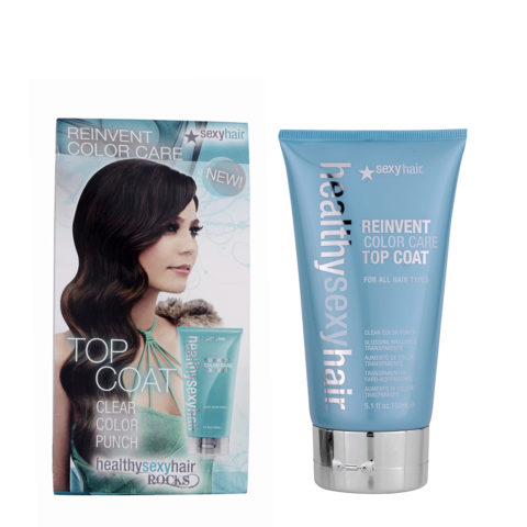 Healthy Sexy Hair Reinvent Top Coat Clear Color Punch 150ml - trattamento ristrutturante capelli deboli