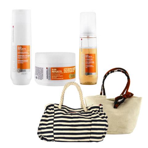 Goldwell Dualsenses Sun reflects Kit Shampoo 250ml Treatment 200ml UV spray 150ml omaggio borsa mare