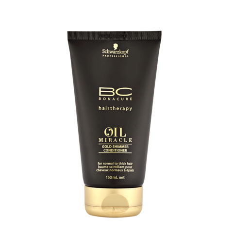 Schwarzkopf Professional BC Oil miracle Gold shimmer Conditioner Normal to thick hair 150ml - balsamo anticrespo