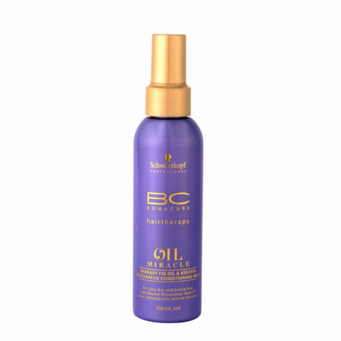Schwarzkopf Professional BC Oil miracle Barbary fig oil & keratin Restorative conditioning milk 150ml - multifunzione
