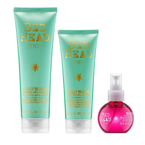 Tigi Bed Head Totally Beachin' Kit Shampoo 250ml Conditioner 200ml Protection Spray 100ml