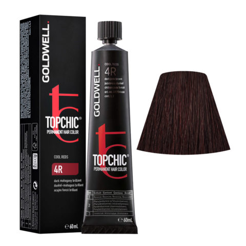 4R Mogano scuro brillante Goldwell Topchic Cool reds tb 60ml