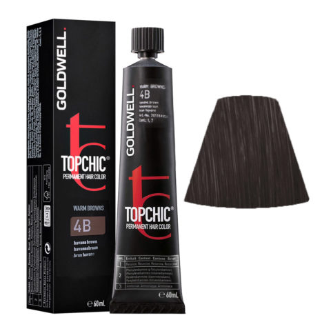 4B Castano medio havana Goldwell Topchic Warm browns tb 60ml