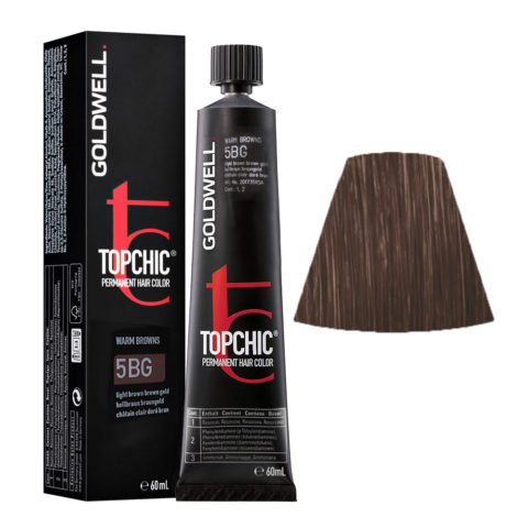 5BG Castano chiaro bruno dorato Goldwell Topchic Warm browns tb 60ml