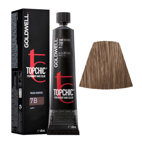 7B Biondo medio safari Goldwell Topchic Warm browns tb 60ml