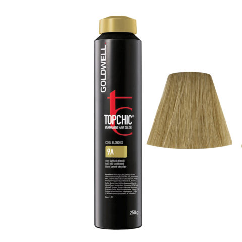 9A Biondo chiarissimo cenere Goldwell Topchic Cool blondes can 250gr