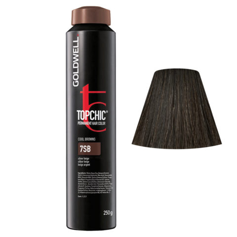 7SB Beige argento Goldwell Topchic Cool browns can 250gr
