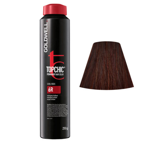 6R Mogano brillante Goldwell Topchic Cool reds can 250gr