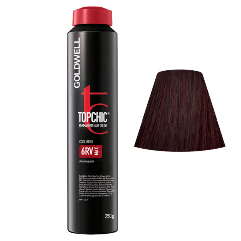 6RV MAX Viola spettacolare Goldwell Topchic Cool reds can 250ml