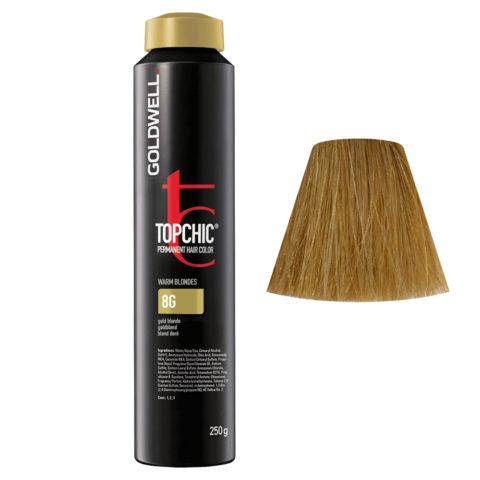 8G Biondo chiaro dorato Goldwell Topchic Warm blondes can 250gr