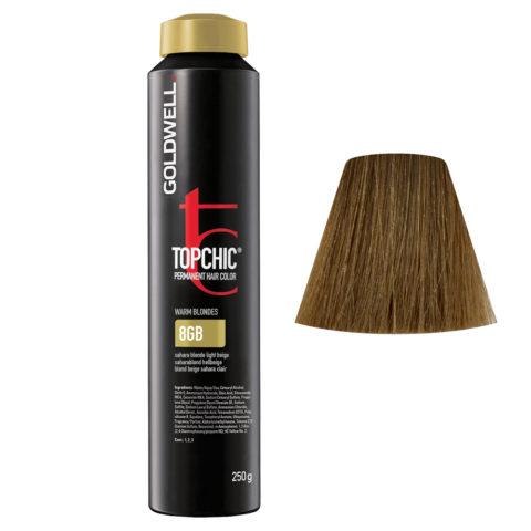 8GB Biondo beige sahara chiaro Goldwell Topchic Warm blondes can 250gr