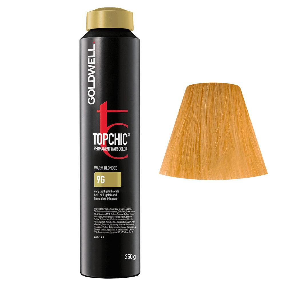 9G Biondo chiarissimo dorato Goldwell Topchic Warm blondes can 250gr