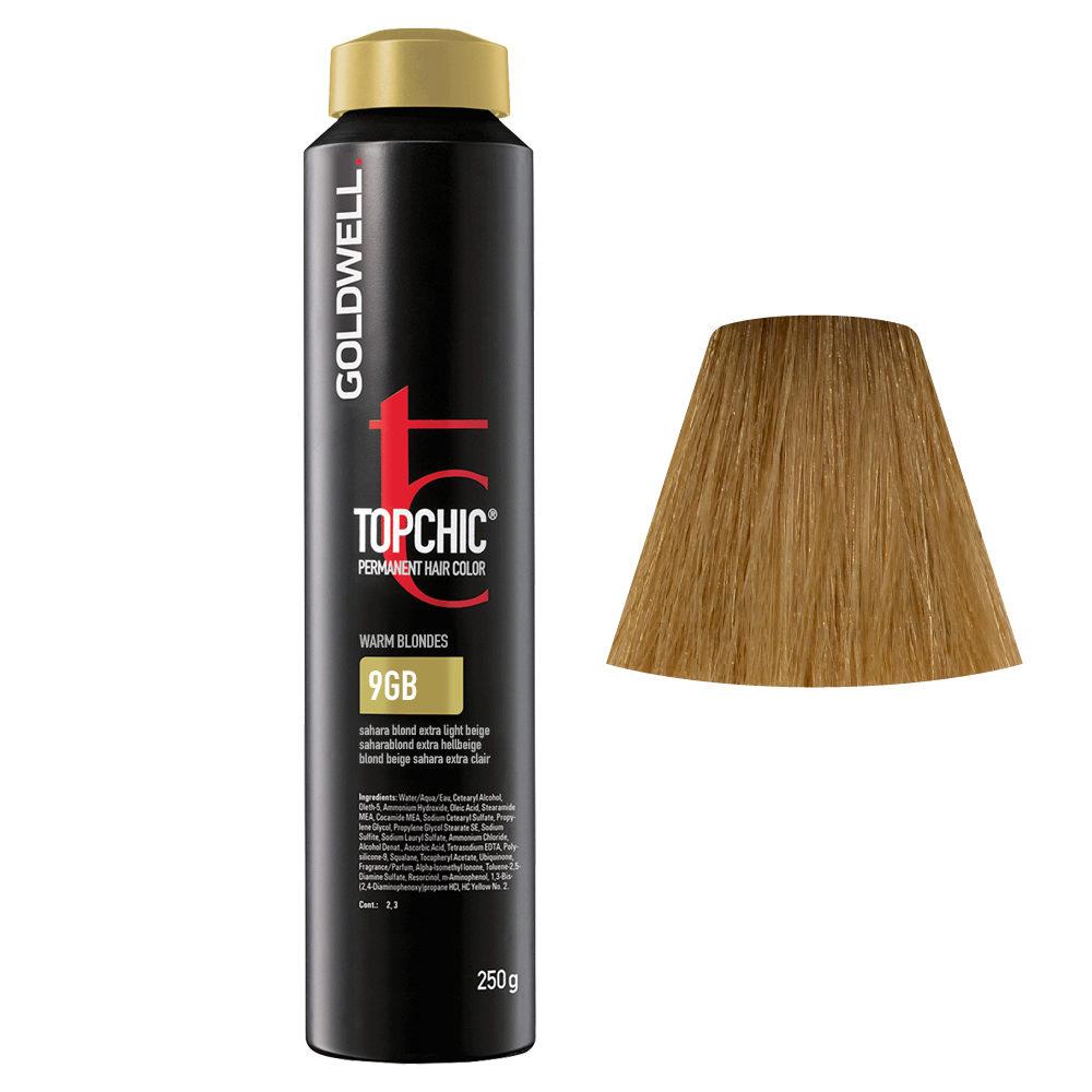 9GB Biondo beige sahara chiarissimo Goldwell Topchic Warm blondes can 250ml