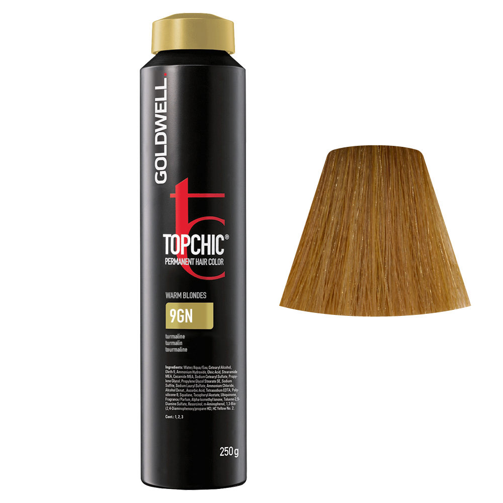 9GN Biondo chiarissimo tormalina Goldwell Topchic Warm blondes can 250gr