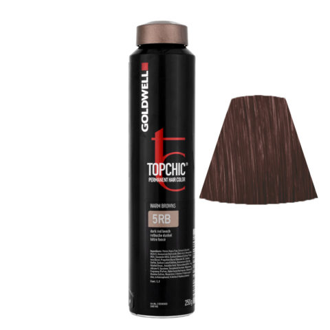 5RB Faggio rosso scuro Goldwell Topchic Warm browns can 250ml