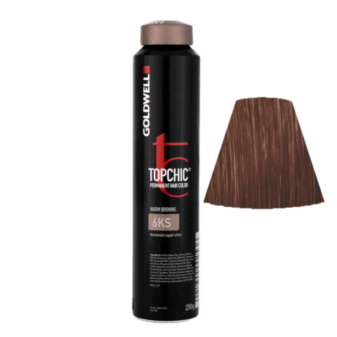6KS Rame argento scuro Goldwell Topchic Warm browns can 250ml