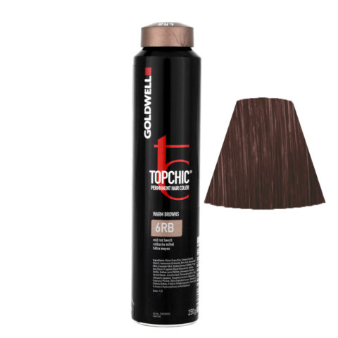 6RB Faggio rosso medio Goldwell Topchic Warm browns can 250ml