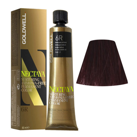 6R Mogano brillante Goldwell Nectaya Cool reds tb 60ml