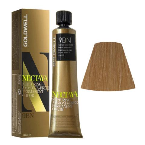 9BN Biondo chiarissimo beige Goldwell Nectaya Warm blondes tb 60ml