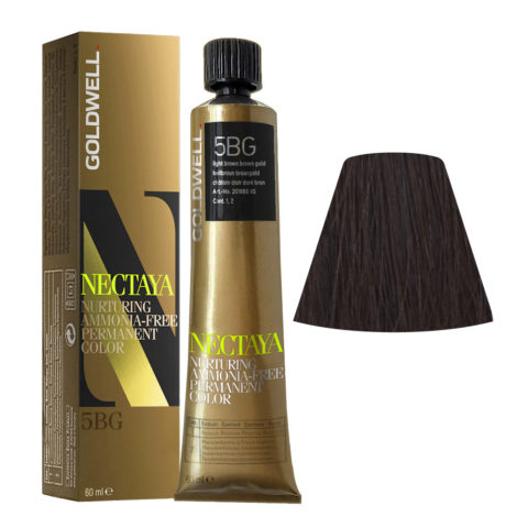 5BG Castano chiaro bruno dorato Goldwell Nectaya Warm browns tb 60ml