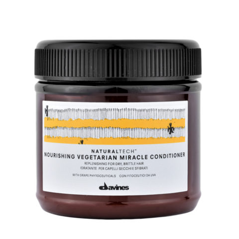 Davines Naturaltech Nourishing Vegetarian Miracle Conditioner 250ml - Maschera ristrutturante