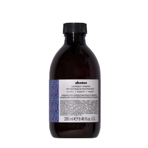 Davines Alchemic Shampoo Silver 280ml - shampoo colore per capelli biondo platino