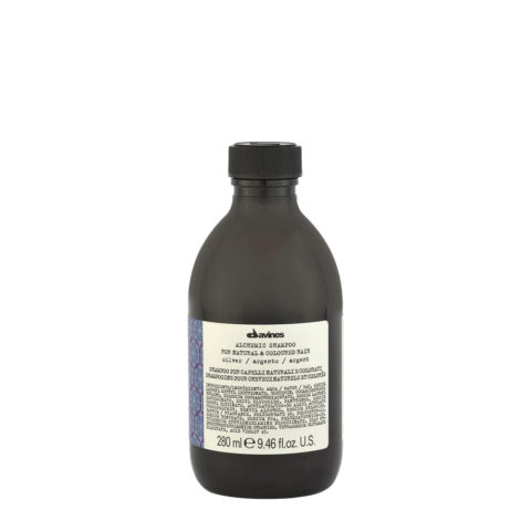 Davines Alchemic Shampoo Silver 280ml - Shampoo Riflessante Per Capelli Biondo Platino