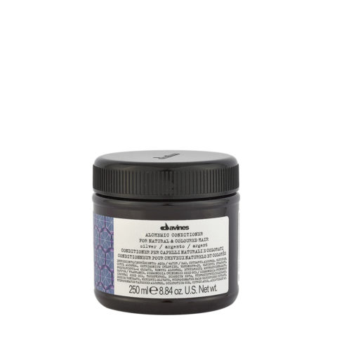 Davines Alchemic Conditioner Silver 250ml - balsamo antigiallo per capelli biondo platino