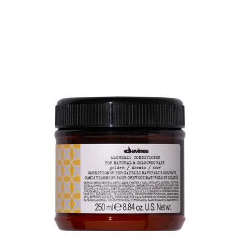 Davines Alchemic Conditioner Golden 250ml - balsamo riflessante per capelli biondo dorato