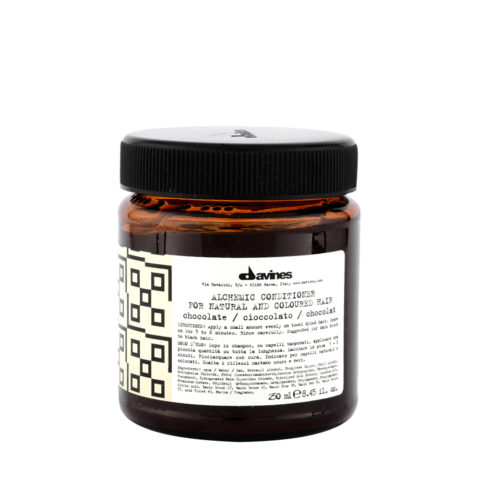 Davines Alchemic Conditioner Chocolate 250ml - balsamo colorato capelli neri