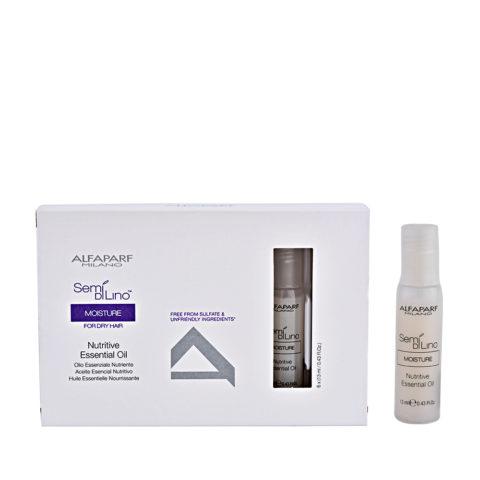 Alfaparf Semi di lino Moisture Nutritive essential oil 6x13ml - olio idratante in fiale