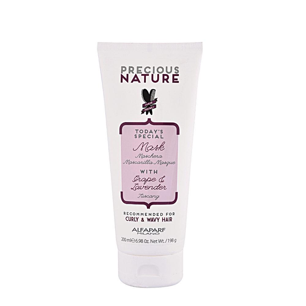 Alfaparf Precious nature Mask with Grape & lavender for Curly & wavy hair 200ml - maschera per capelli ricci e mossi