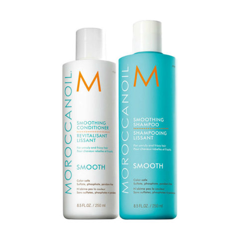 Moroccanoil Smoothing Kit Shampoo 250ml Conditioner 250ml - shampoo e balsamo anticrespo