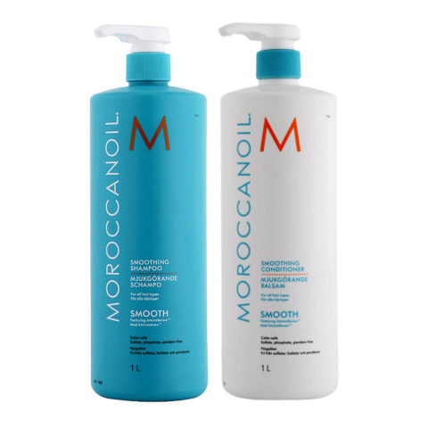 Moroccanoil Smoothing Kit Shampoo 1000ml Conditioner 1000ml - shampoo e balsamo anticrespo