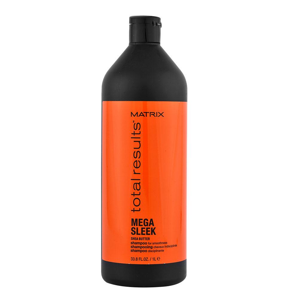 Matrix Total Results Mega sleek Shea butter Shampoo 1000ml - shampoo anticrespo